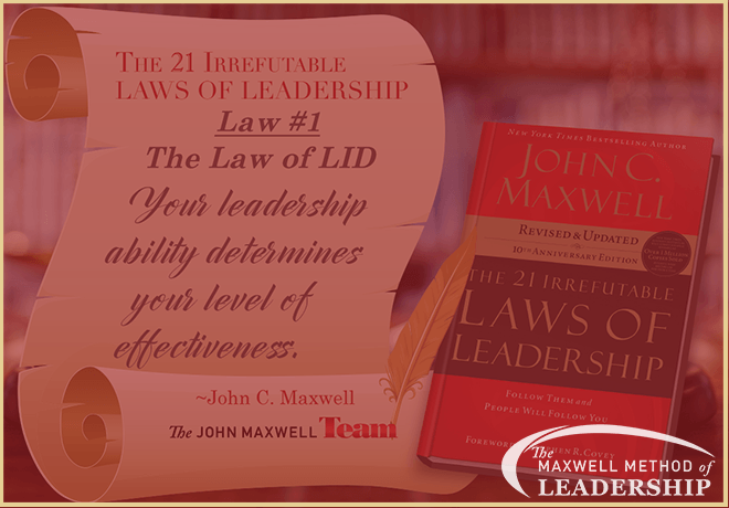 Maxwell Method of Leadership - The Law of Lid