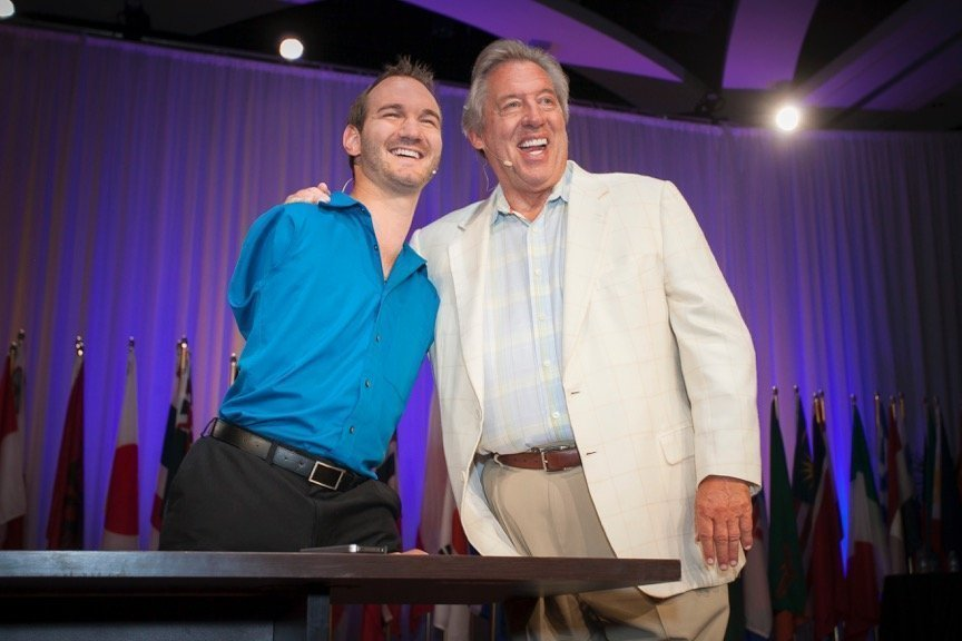 Nick Vujicic and John Maxwell